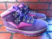 TIMBERLAND Euro Hiker Juniors Youth Boots Size 5.5 NEW 1091A Purple