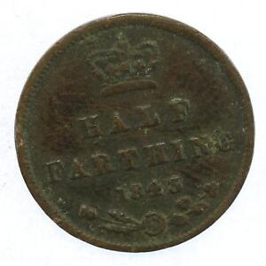 1843 Queen Victoria Half Farthing Lot A6