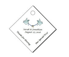 60 Personalized Wedding Diamond Party Favor Gift Hang Tags 2x2""