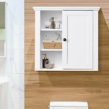 "20"" Wall-mounted Bathroom Cabinet 3-Tier Storage Home Organizer Closet -White"