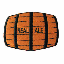 Embroidered Real Ale Barrel Sew or Iron on Patch Biker Patch