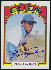 2021 Fergie Jenkins Topps Heritage Real One Autograph ROA-FJ Chicago Cubs Card