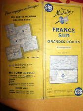 Carte michelin 999 france sud grandes routes 1959