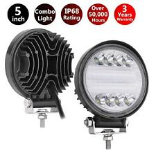 5inch Round LED Offroad Pod Lights Bar 144W Black Driving Lamp Headlight Offroad