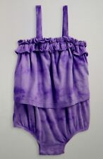 SPLENDID Tie Dye Romper One Piece Purple Girls 0-3 Months New $38 FBB