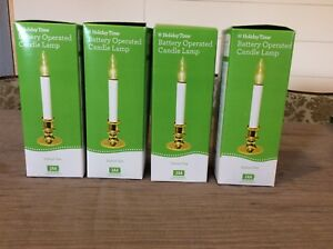 Set of 4 Holiday Time Battery Operated Candle Lamps NEW !! FREE SHIP