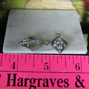 Antique Dollhouse SILVER WALL SCONCE PAIR Lighting Vtg Metal Candleholder Lot