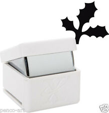 """Xcut Large HOLLY BRANCH palm hole punch Card Craft 25mm 1"""" cuts up to 300gsm"""