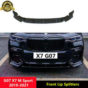 X7 Front Lip Gloss Black Front Splitters for BMW G07 X7 M Sport 2019-2021