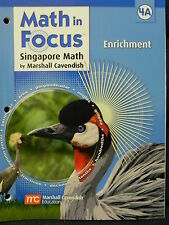 Math in Focus Singapore 4th Math Grade Level 4 Enrichment Book A (2011 Paperback
