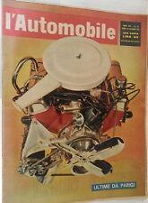 L AUTOMOBILE 15 ottobre 1961 Salone Francoforte  Peugeot 404 Simca 1000 Pontiac