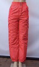 Vintage 80s Head Sportswear Pink Red Neon Striped High Waist Ski Snow Pants Sz 8