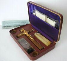 Vintage Portable Cased Catholic Last Rites,Christening Holy Communion Unused Set