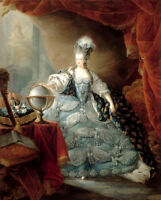 Marie Antoine Queen portrait oil painting Canvas Giclee Art Print L1924