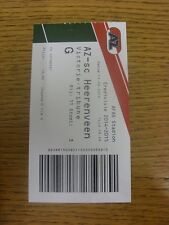 13/09/2014 Ticket: AZ Alkmaar v Heerenveen.  Any faults with this item will have