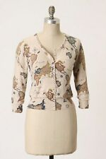 ANTHROPOLOGIE Guinevere Cartography Cardigan Map Sweater - Sz L - RARE SOLD OUT