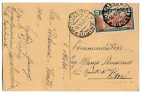1924 Anno Santo - cent 20 sassone 169 isolato per Bari nel 1925
