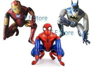 Superhero Marvels Avenger Birthday 3D Foil Balloon Spiderman Ironman Batman