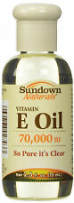 Sundown Vitamin E Oil 70000iu Liquid 2.5oz