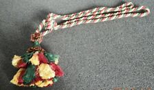 Large red gold green multiple tassels rope tie back for curtain