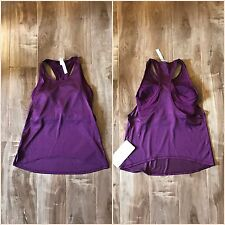 NWT Lululemon Pushing Limits Tank Top Med Support For C/D Cup Sz 4 Marvel Purple