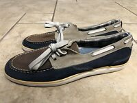 Clarks Loafer Boat Men's Size 13m Multicolor Suede Lace up Blue Brown Boat Shoes