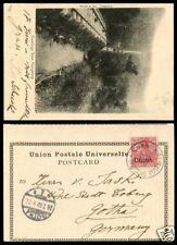 1902 年 德國在華客郵 香港寄哥德 實寄片 German Offices HK PC to Germany