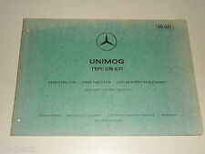 Teilekatalog Ersatzteilliste Mercedes Benz Unimog Motor Typ OM 621,  07/1972
