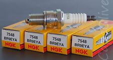 4 PCS – NGK 7548 V-Power Spark Plugs (BR9EYA) Solid Tip