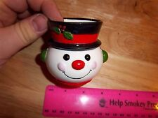 Snowman head ceramic vase / candle holder, Fantastic Collectible! very cool item