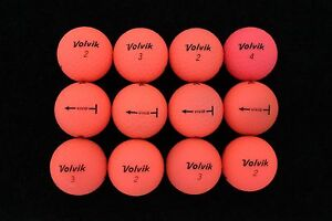 12 Volvik Vivid Matte Pink Near Mint Used Golf Balls AAAA *SALE!*
