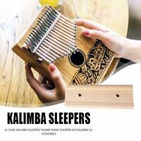 10 Key Kalimba DIY Beech Mbira Thumb Piano Traditional Finger Musical Instrument