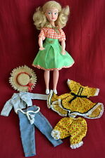 Vintage KELLOGG'S Unique CALICO LASSIE DOLL 60's Tammy ELLIE MAE Hillbillies