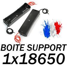 CAISSE COUPLEUR BOITE SUPPORT POUR BATTERIE PILE ACCU 1 x 18650 AVEC FIL +&-