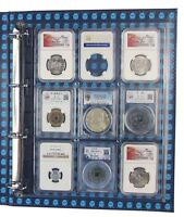 4x Clear Plastic Certified Coin Slab Binder Album Encap Pages for NGC PCGS other