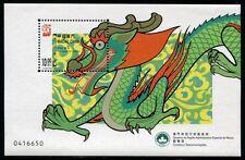 Macau 2000  jaar vd Draak  blok   postfris/mnh