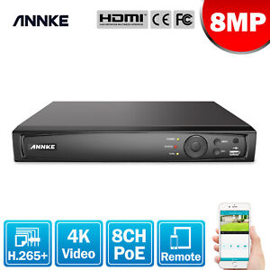 ANNKE 8CH 8MP 4K Video H.265+Network Recorder NVR for Home Security PoE System