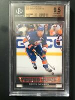 2013-14 Upper Deck Brock Nelson Young Guns Rookie BGS 9.5