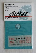 Archer 1/48 German Tiger I Tank Markings WWII Mix No.4 (2 tanks) [Decal] AR49005