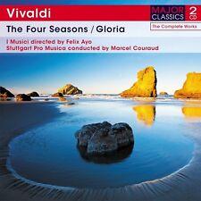 2 CD BOX VIVALDI FOUR SEASONS GLORIA in D STABAT MATER RV 621O QUI COELI MOTET