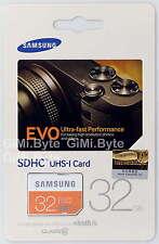 SAMSUNG EVO 32 GB SDHC CARD 48MB Class 10 Ultra Camera Memory Card 32G UHS-I HD