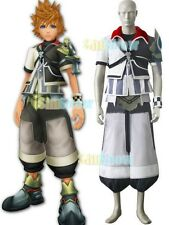 Kingdom Hearts Ventus Black And White Uniform Cloth Leather Cosplay Costume