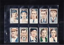 cigarette cards cricket tennis & golf celebrities 1935 full set