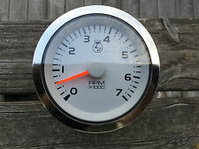 "Universal Marine outboard boat tachometer gauge 4"", 7000RPM"