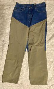 Cabela's Men's Upland Hunting Brush Guard Denim Blue Jeans Pants Size 30x30 Reg