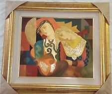 """Arbe - """"Meant to Be"""" Original Mixed Media on Canvas signed and framed w/Cert"""