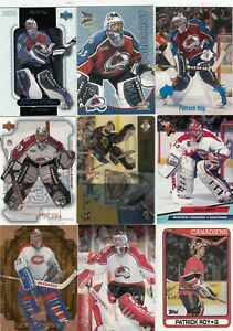 PATRICK ROY a lot of 9 DIFFERENTS CARDS near mint   LOT 62