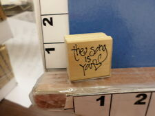 the song is you heart scripty saying NEW rubber stamp 34p