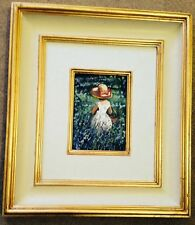 "RARE SHERREE VALENTINE-DAINES ORIGINAL ""Amongst the Bluebells"" Girl Oil PAINTING"