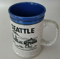 Seattle Washington Famous Landmarks Vintage Souvenir Stoneware Coffee Mug 16 oz